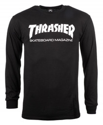 Thrasher Long Sleeve T Shirt Skate Mag Logo- Black