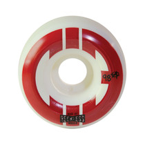 CHICKS IN BOWLS STREET SKATE WHEELS-WHITE/RED