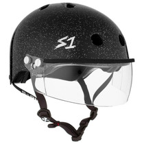 S1 Lifer Helmets inc Visor - Black Glitter