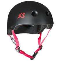 S1 Lifer Helmets-Black Matt Red Strap