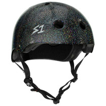 S1 MEGA Lifer Helmets- Black Gloss Glitter