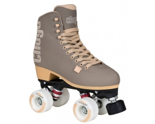 These fashion skates from Chaya are high-end roller skates incorporating a lot of the technologies that Chaya has improved through their love of roller derby.  The boot is a high-cut vinyl clad boot. It has a heat-mouldable heel cup that lets you customize the fit to suit your heel perfectly. The anatomically shaped ankle area provides the right amount of support and makes the skate usable for long sessions.  The plates on these roller skates are Chayas Shari plates. They are made with a mix of nylon and fiberglass for a strong lightweight plate. Along with the 20° cast aluminum trucks and Jelly Interlock cushions you get a highly maneuverable skate that is fun to skate and easy to control.  The plates are prepared for the Chaya Dual Center Mounting, which makes them easy to switch from boot to boot depending on where and what you are skating.  Octo Paseo wheels with a soft and grippy durometer. Controller Toe stops make changing direction and stopping a breeze.