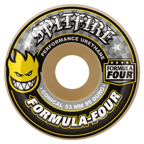 Spitfire Formula Four Wheels-Conical Yellow