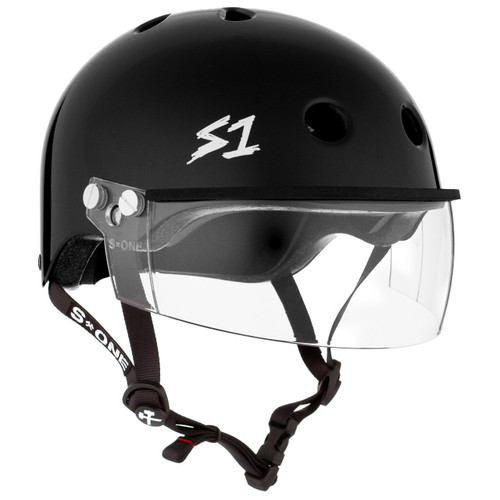 S1 Lifer Helmets inc Visor - Black Gloss