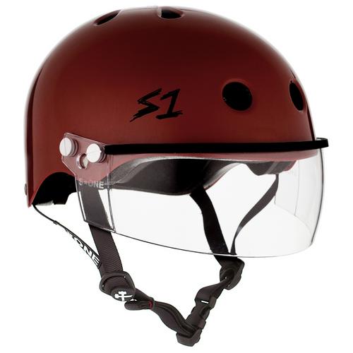 S1 Lifer Helmets inc Visor - Red Gloss