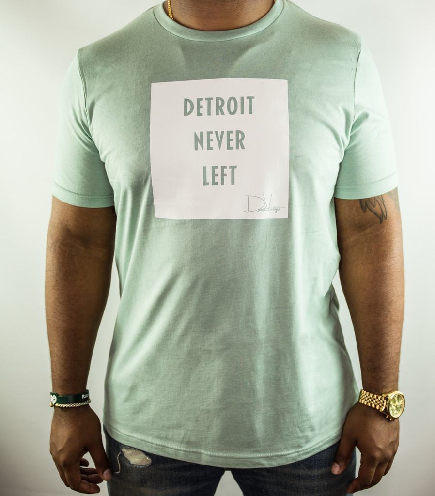 Detroit Never Left™ Tee - Heather Dusty Blue