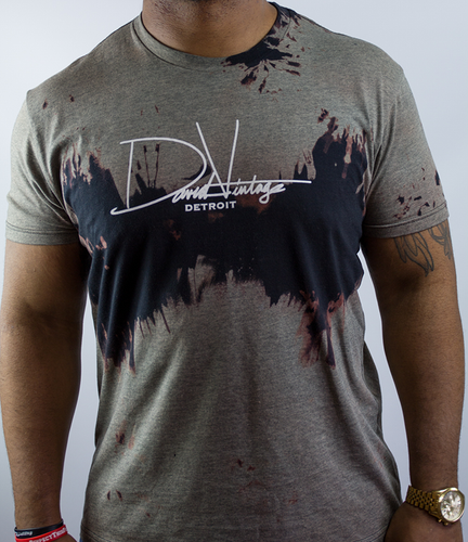 Hand Stained Signature Tee - Gray