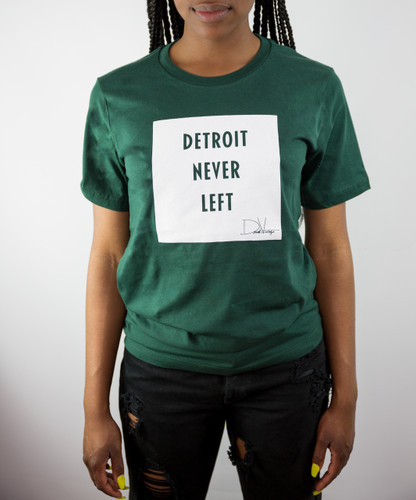 Detroit Never Left™ Tee - Go Green/Go White
