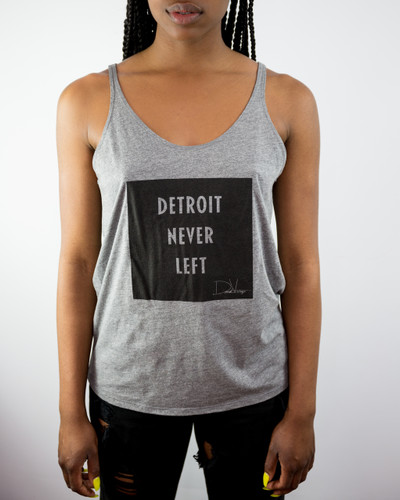 Detroit Never Left™ Wmns Cozy Tank - Grey/Black