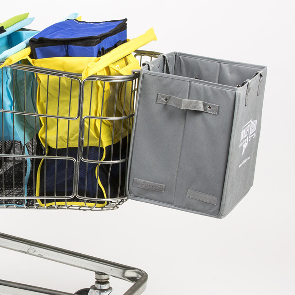 The Xtra Bag is available in blue, grey and green.