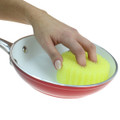 Scrub Daddy Original is safe on non-stick pans.
