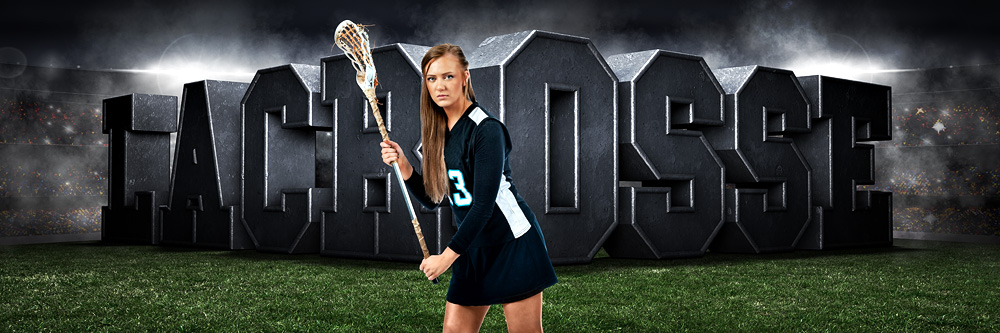 PANORAMIC SPORTS BANNER TEMPLATE - SURREAL LACROSSE - LAYERED PHOTOSHOP SPORTS TEMPLATE