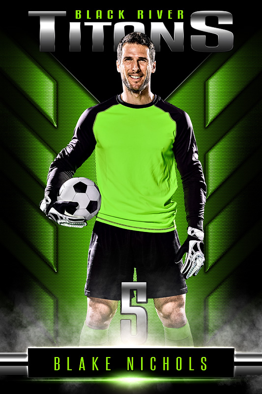 PLAYER BANNER PHOTO TEMPLATE - DOUBLE TAKE - PHOTOSHOP LAYERED SPORTS TEMPLATE