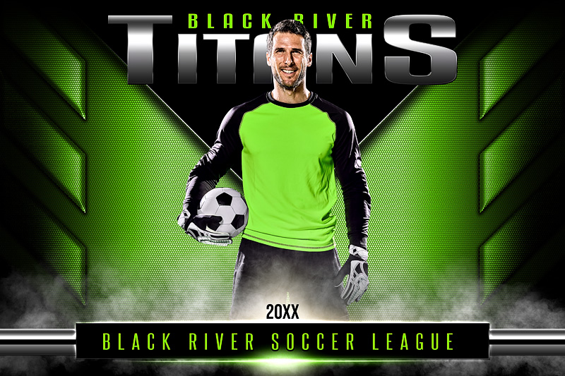 PLAYER & TEAM BANNER PHOTO TEMPLATE - DOUBLE TAKE - PHOTOSHOP LAYERED SPORTS TEMPLATE