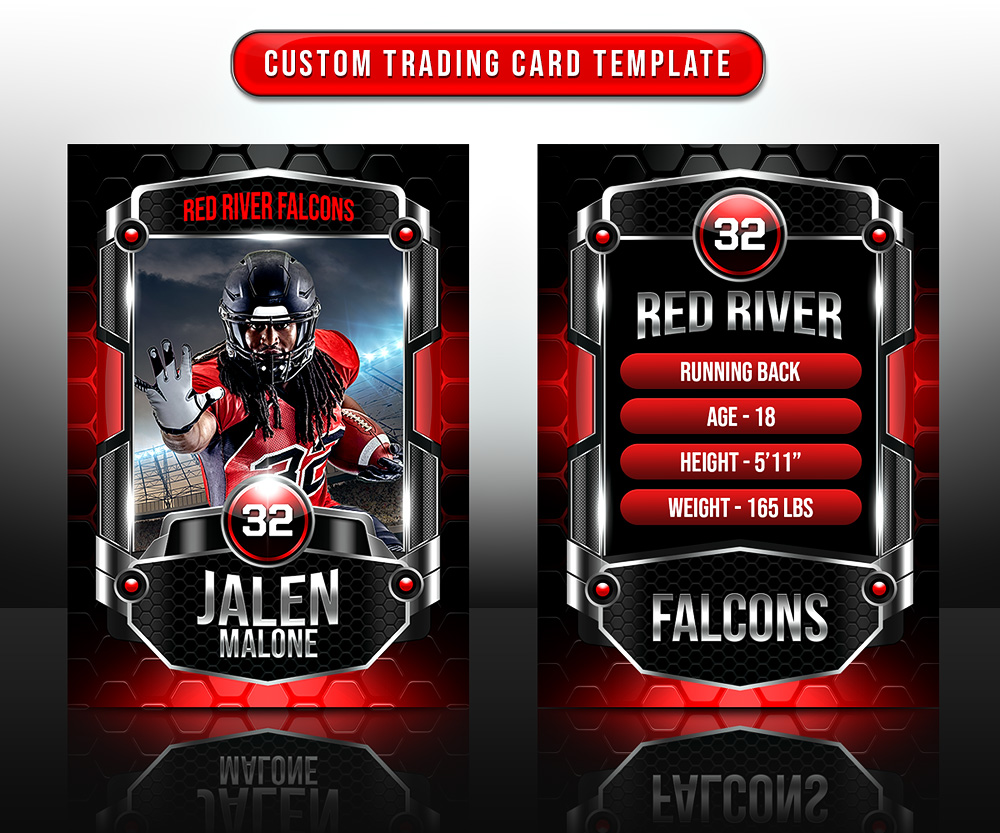 SPORTS TRADING CARDS AND 5X7 TEMPLATE - HEXAGON