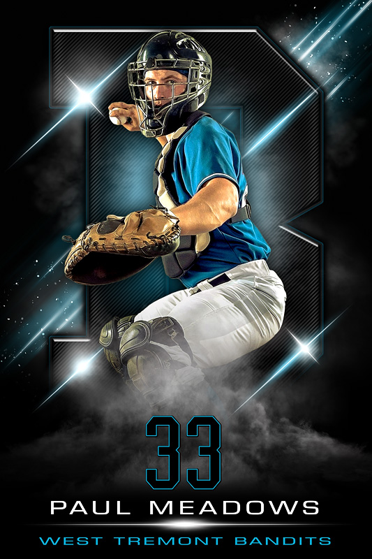 PLAYER BANNER PHOTO TEMPLATE - IMPRESS - PHOTOSHOP SPORTS TEMPLATE