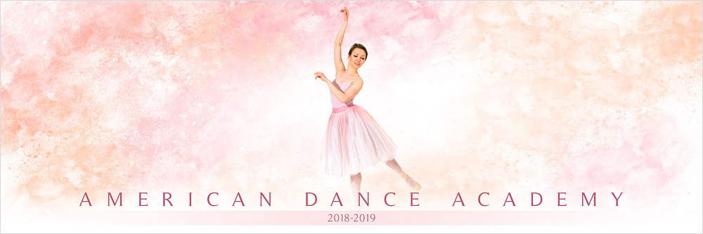 Panoramic Team Banner Photoshop Sports Template For Dance and Cheerleading - Pastels
