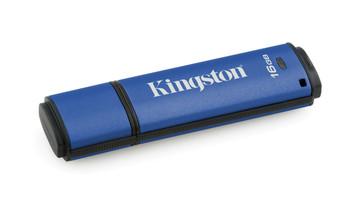 Kingston 16GB DataTraveler Vault Privacy, Blue, Encrypted USB 3.0 flash drive