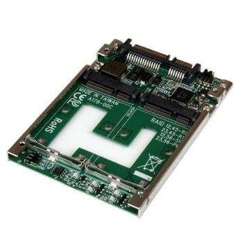 "Dual mSATA SSD to 2.5"" SATA RAID Adapter Converter"
