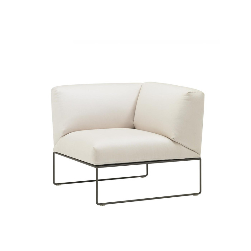 Andreu World Siesta Sofa, right corner sofa module