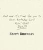 DSM3325 - Birthday Card