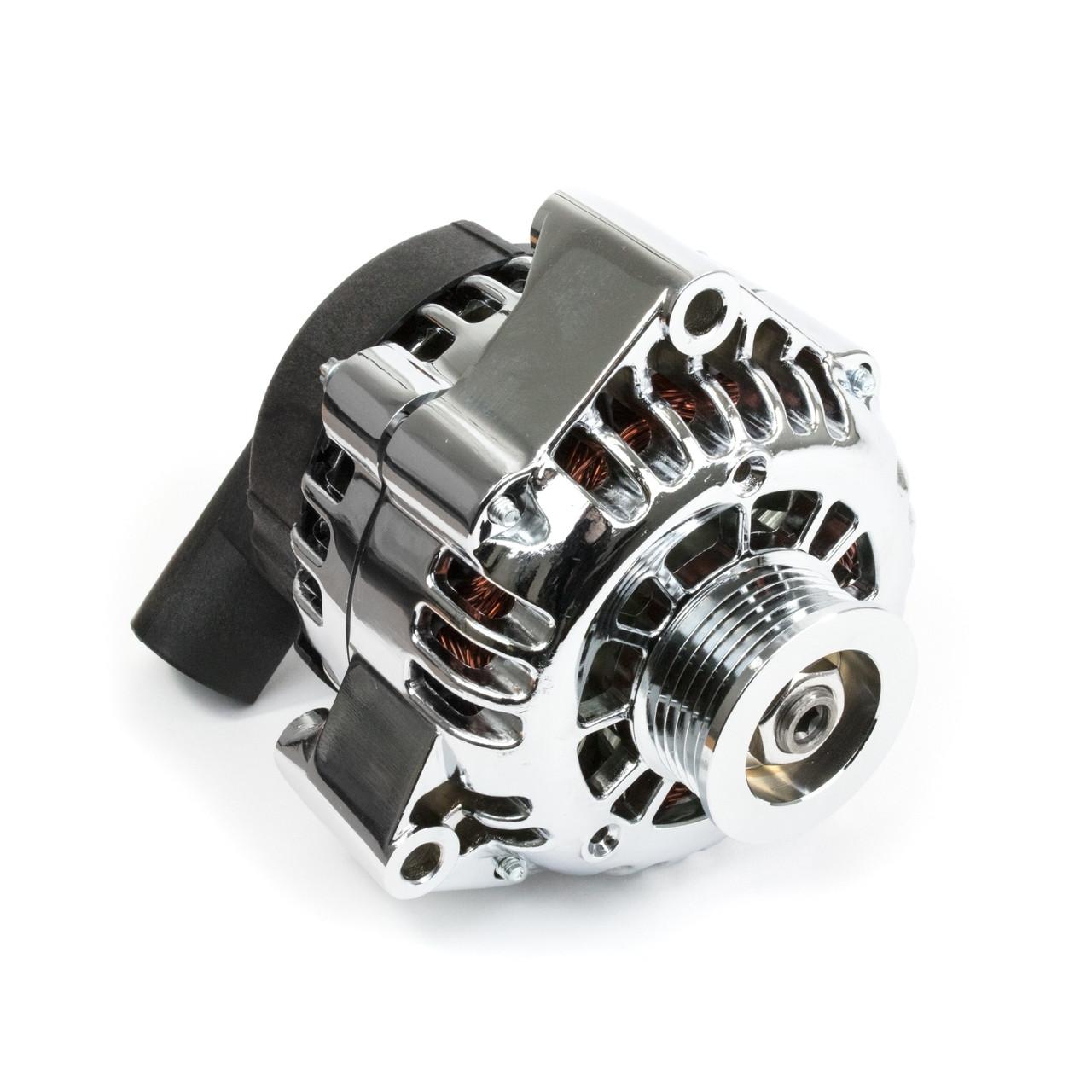 gm ls car cs130d style high output 180 amp chrome alternator rh lsxceleration com GM CS130 Alternator Wiring GM CS130 Alternator Wiring