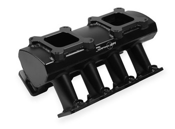 Holley Sniper Hi-Ram LS1 Intake Manifold & Fuel Rail Kit 820062 - Fabricated, 2x4 EFI, Black Finish