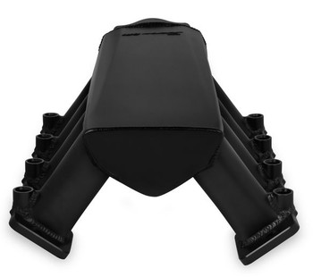 Holley Sniper Hi-Ram LS7 102mm EFI Intake Manifold & Fuel Rail Kit 830042 - Fabricated, Black with Sniper logo