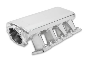 Sniper LS3 Low Profile 92mm EFI Intake Manifold & Fuel Rail Kit 822101 - Fabricated, Silver