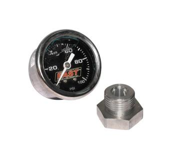 FAST LSX/LSXR/LSXRT EFI Fuel Pressure Gauge Kit 54027 - 0-100 PSI