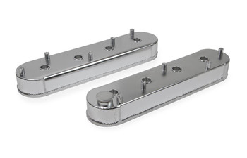 Mr Gasket Fabricated Aluminum GM LS Valve Covers 6825G - Silver
