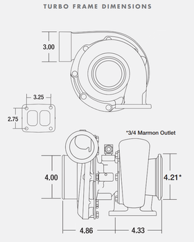 BorgWarner S360SX3 60/68 .91 A/R T4 Turbocharger 177272