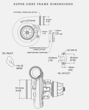 BorgWarner S363SX-E 63/68 Turbo Super-Core Assembly 13009097006