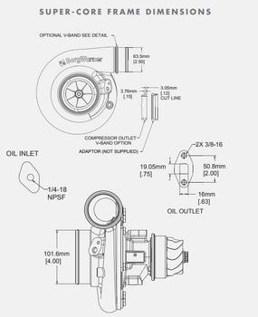 BorgWarner S363SX-E 63/74 Turbo Super-Core Assembly 13009097047