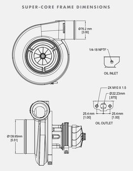 BorgWarner S472SX-E 72/82 Turbo Super-Core Assembly 14009097006