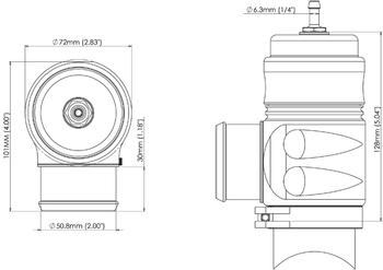 Turbosmart Bubba Sonic Blue 52mm Blow-Off Valve TS-0204-1301