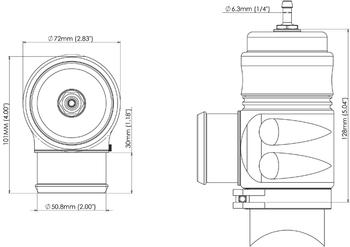 Turbosmart Bubba Sonic Black 52mm Blow-Off Valve TS-0204-1303