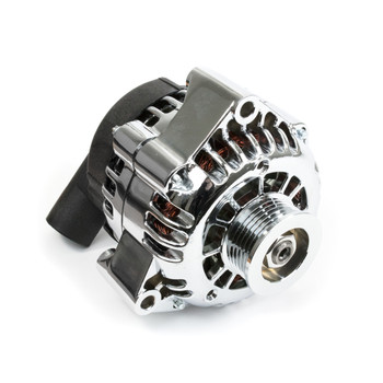 GM LS Car Alternator CS130D Style High Output 180 Amp Chrome