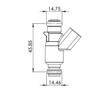 Delphi 52lb/hr 2000-07 LS Truck Injectors (56010-550-8-D)