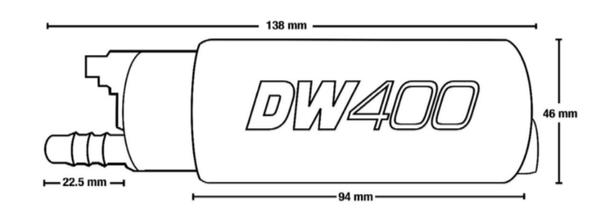 DeatchWerks DW400 In-Tank Fuel Pump 9-401-1001