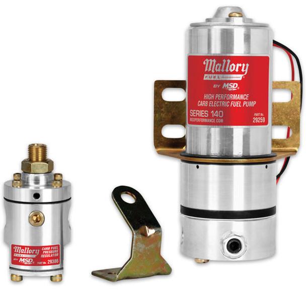 Mallory Carb Fuel Pump & Regulator Kit 29209