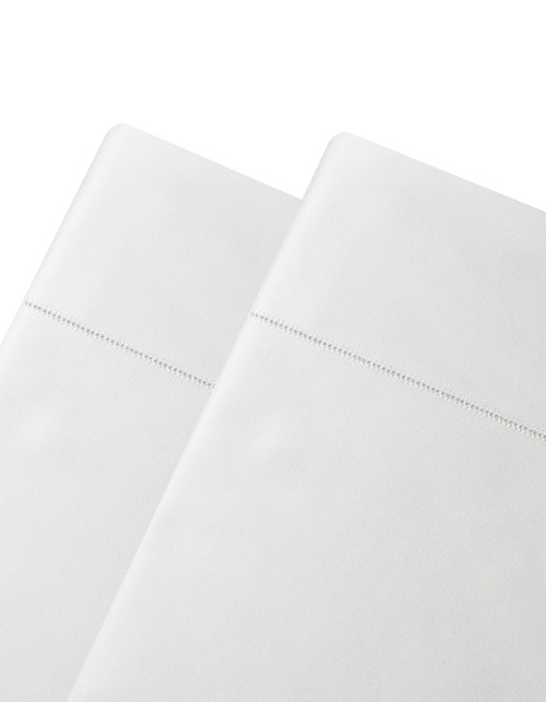 Our Serena flat sheets are generously sized. Finished with a classic and elegant hemstitch detail. Our Serena collection of linens  are unmatched in hand, drape and price. Compare Serena to other 100% long staple cotton sheets selling at over $600 a set. Made in Italy – where the finest luxury bed linens in the world are made…