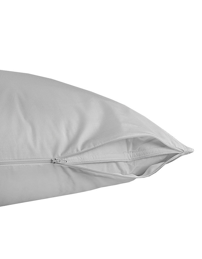 """Our Pillow are a great way to extend the life of your sleeping pillow. Made from 100 cotton and  constructed with a zipper closure. Zip them off every few weeks and throw them in the wash to keep them fresh and clean. Add years of life to your pillow and keep your pillows cleaner. Available in a Standard size 20"""" x 26"""" or King size 20"""" x 36""""."""