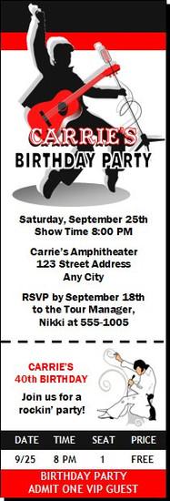 Elvis inspired birthday party invitation elvis inspired design 2 birthday party ticket invitation filmwisefo