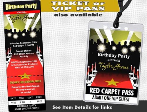 Red carpet paparazzi birthday party invitation red carpet paparazzi birthday party invitation other styles filmwisefo