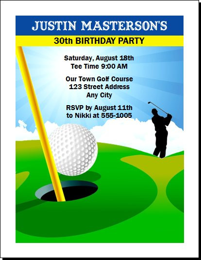Golf birthday party invitation golf birthday party invitation set of 12 filmwisefo