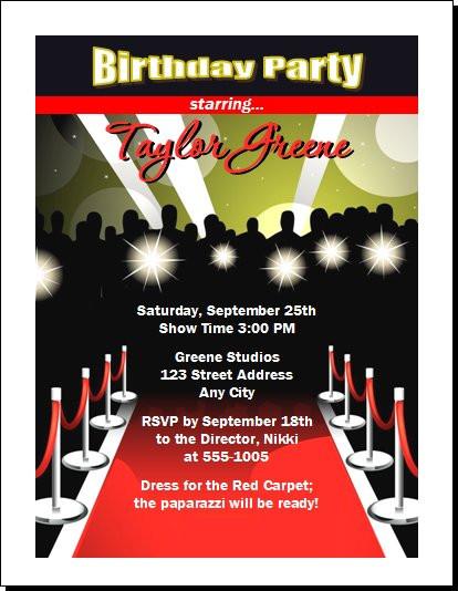 Red carpet paparazzi birthday party invitation red carpet paparazzi birthday party invitation set of 12 filmwisefo