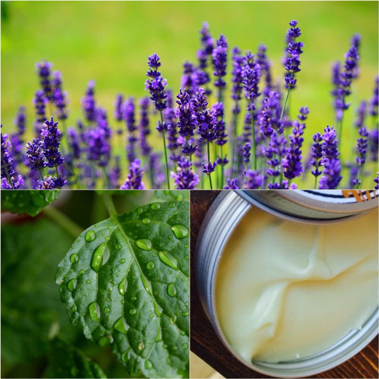 Patchouli Lavender Body and Hair Butter. Earth and Calm Body Lotion and Hair Lotion.