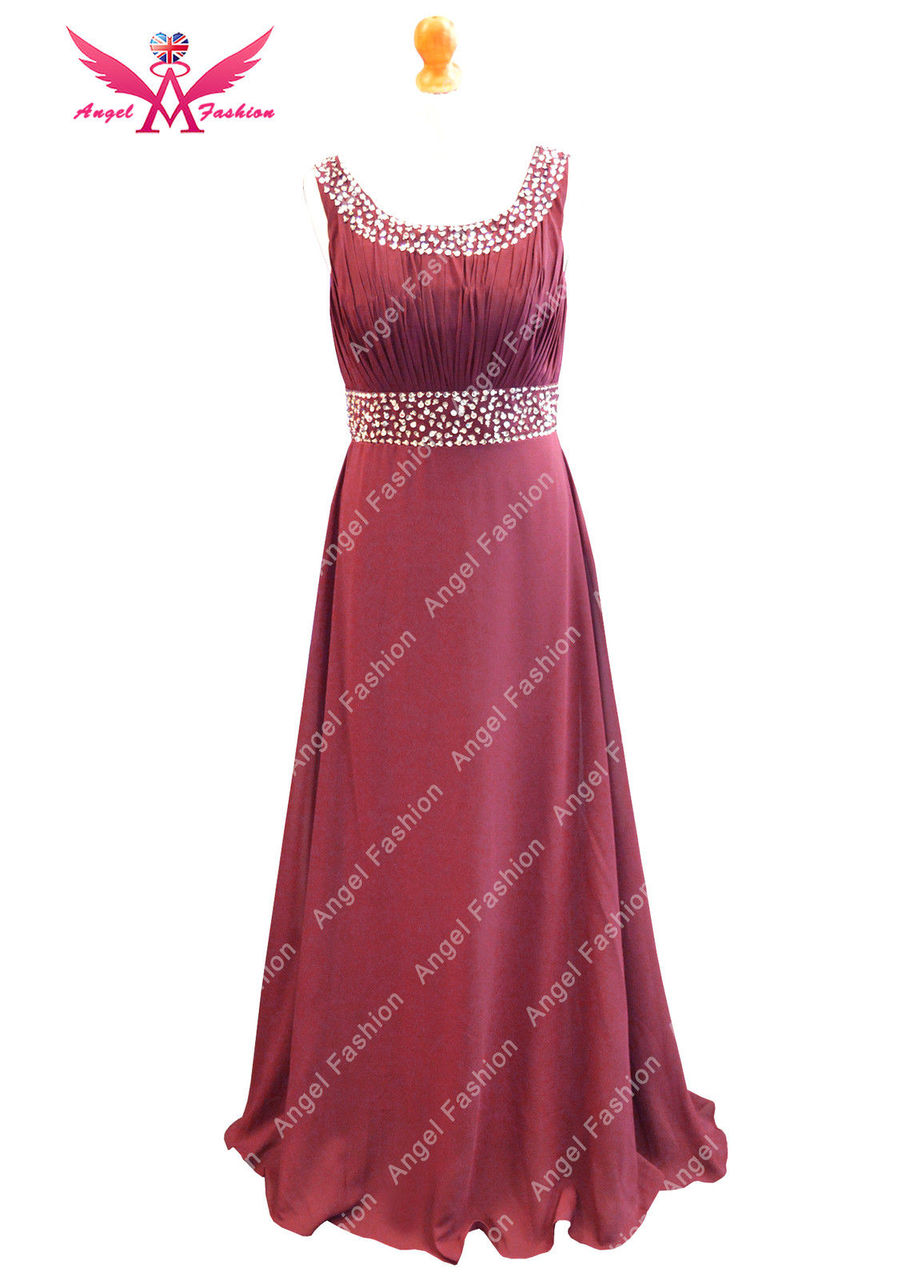 New Long Chiffon Bridesmaid Formal Gown Ball Evening Prom Party ...