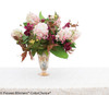 Cut Fire Light Hydrangea Flowers in a Vase